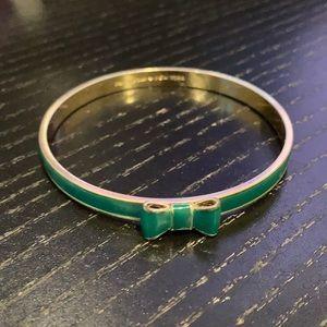 """Kate Spade New York green """"Take A Bow"""" bracelet"""